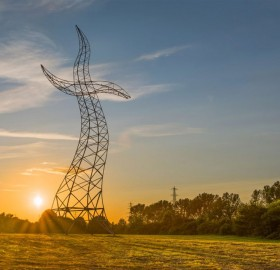 Dancing Transmission Tower