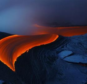 Lava From Kilauea Volcano, Hawaii