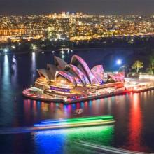 Light Show At Sydney Opera House