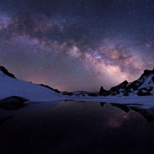 Milky Way Over Cecile Lake, California