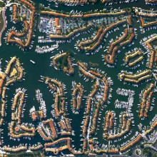 Port Grimaud From Above, France