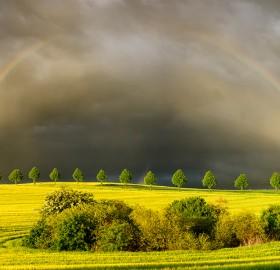 Sun, Rain And Rainbows In Poland