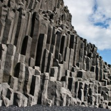 Unique Rock Formations As Results Of Lava Flows Cracking