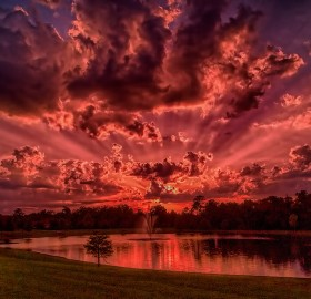 Red Sunset, Florida