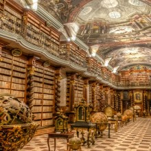 Beautiful Baroque Library, Prague