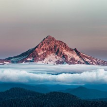 Mount Hood Over Clouds, Oregon