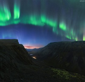 Northern Lights Over Khibiny Mountains, Russia
