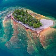 Small Island Of Lake Superior