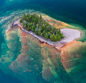 Small Island Of Lake Superior