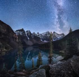 Milky Way Shines Over Lake