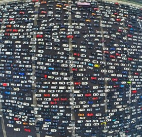 Rush Hour Traffic In China